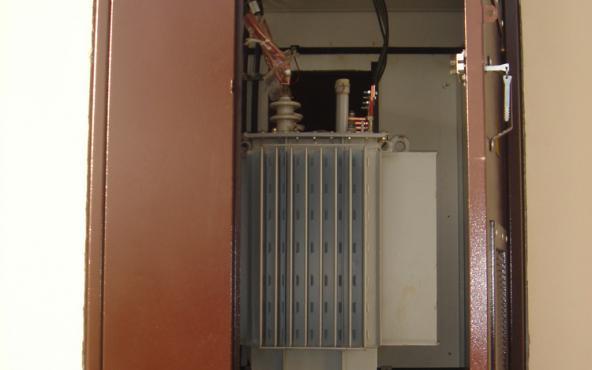 Силовой трансформатор в БКТП